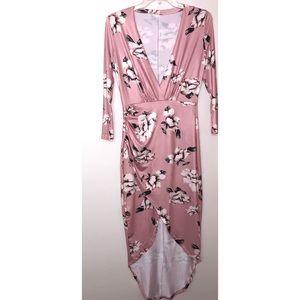 Dresses & Skirts - Deep V Floral Mini Dress